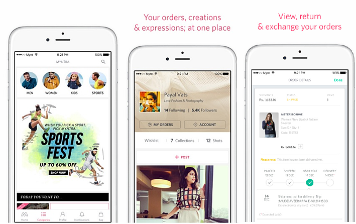 7 Amazing React Native Mobile Apps - Myntra