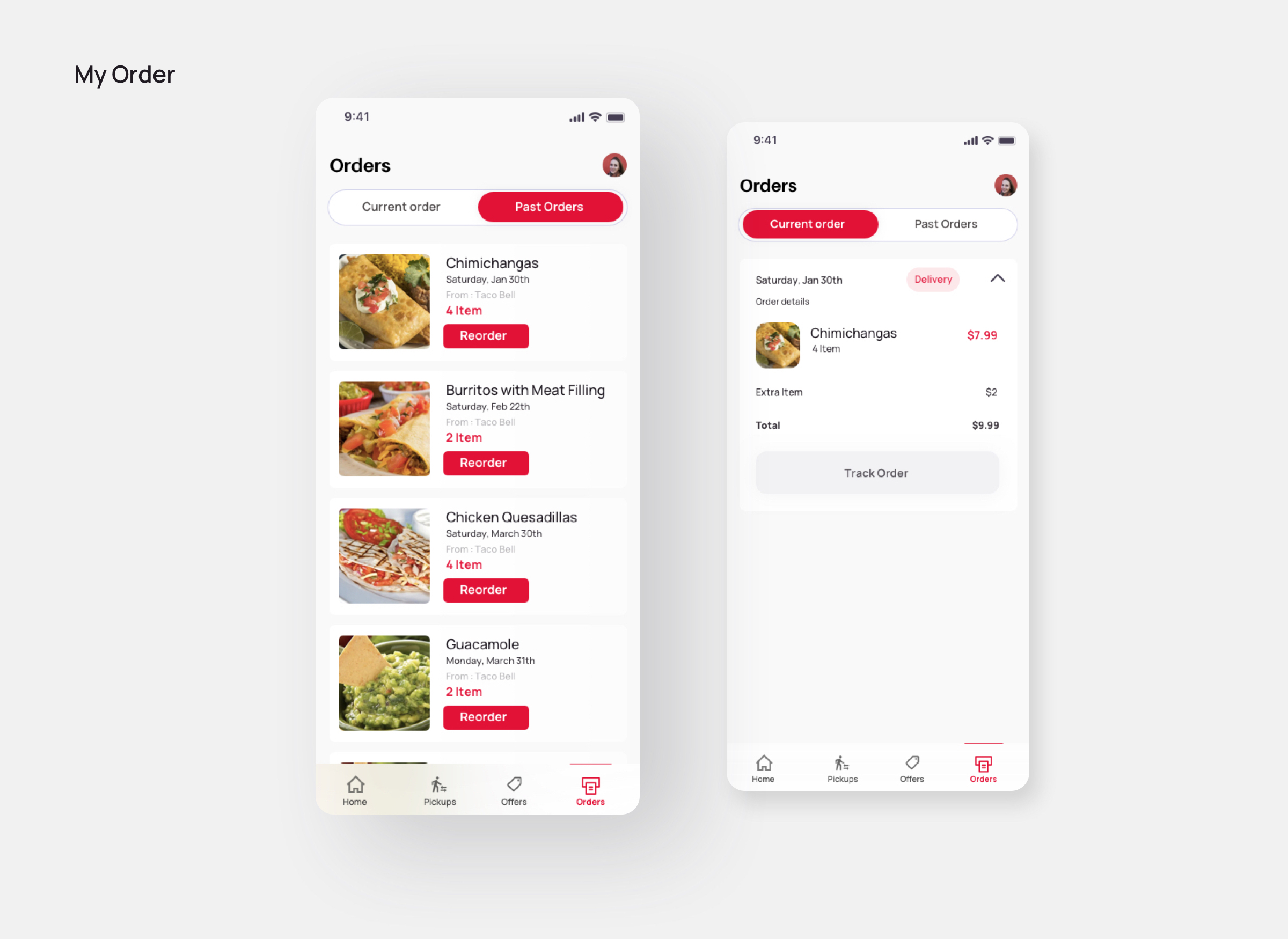 Order- Doordash redesign