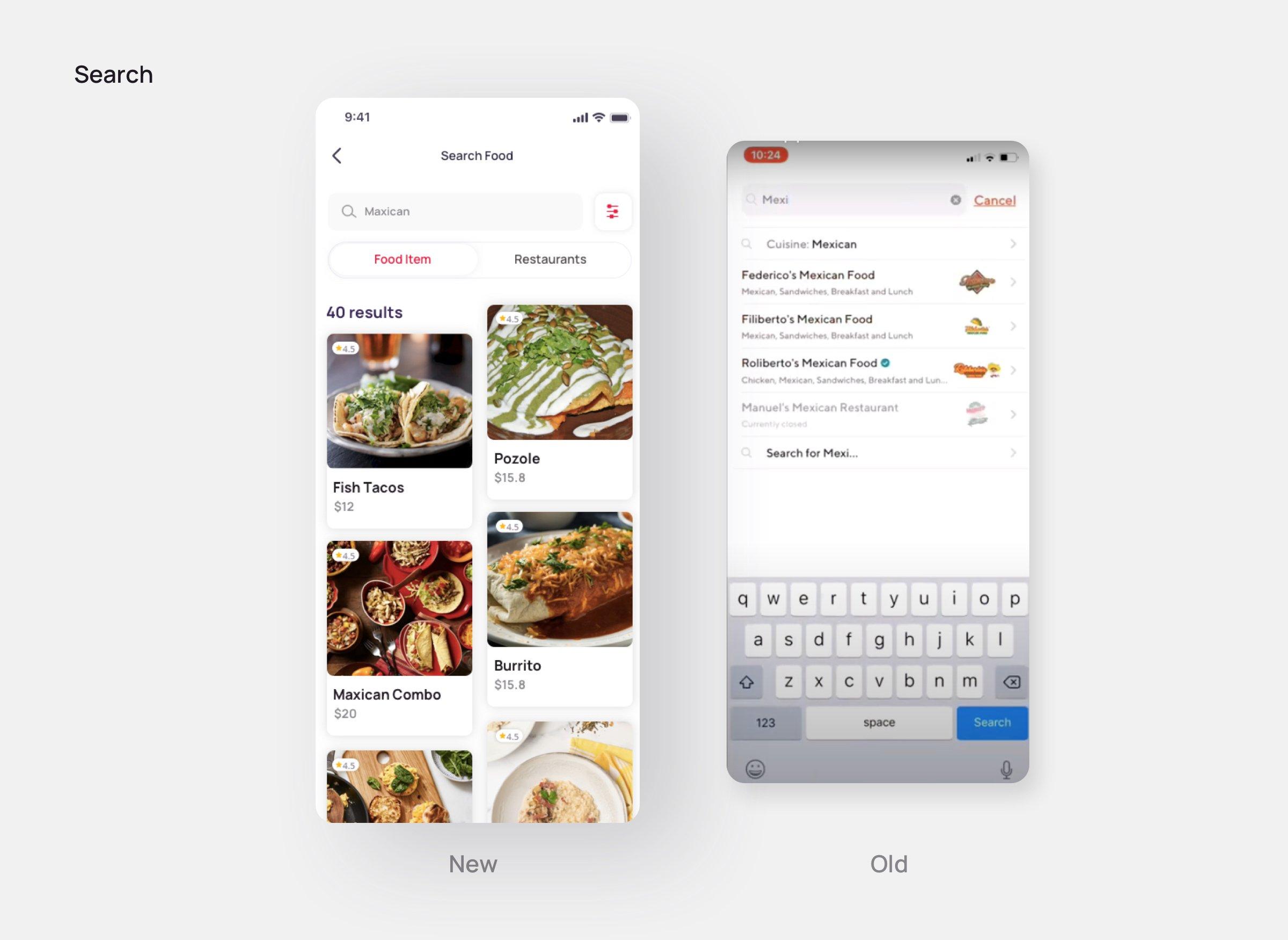 Search-Doordash redesign