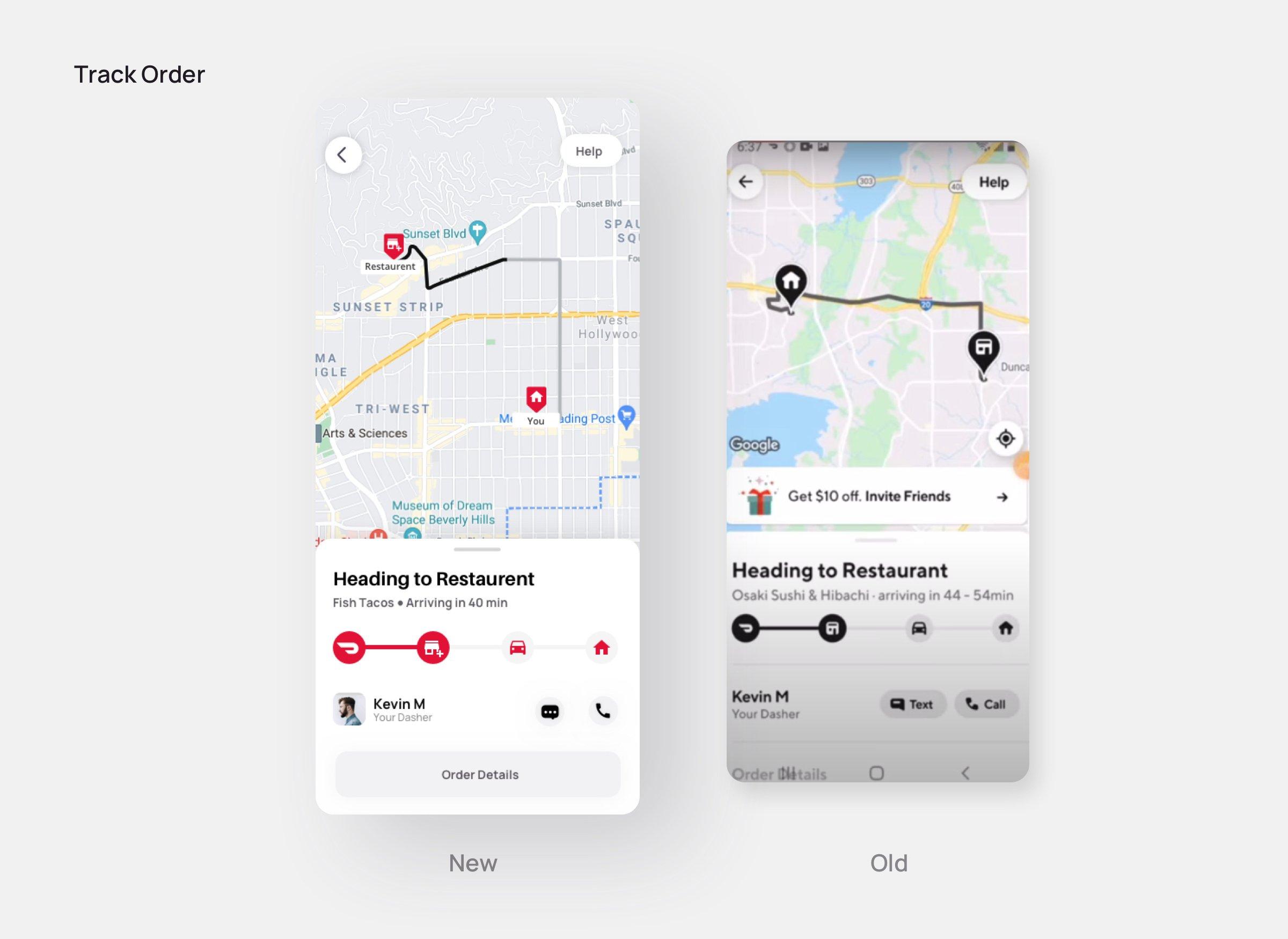 Track Order-Doordash redesign
