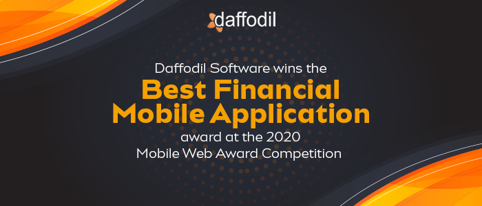 Daffodil Software wins Best Financial Mobile Application