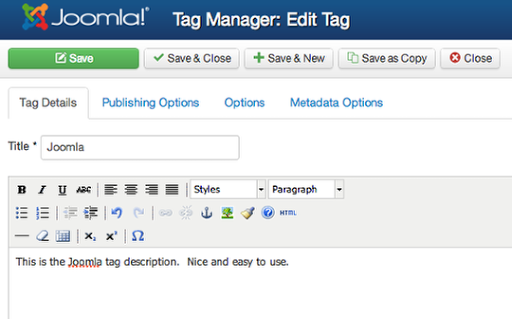 Joomla 3.1 Tags Feature 3